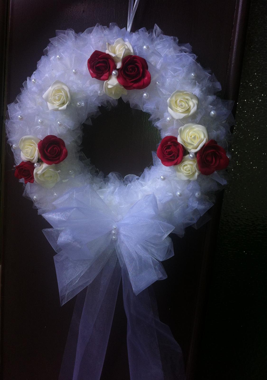 Netradiční svatební kytice - pěnové růžičky + polštářky pod prstýnky, košíčky - Obrázek č. 79