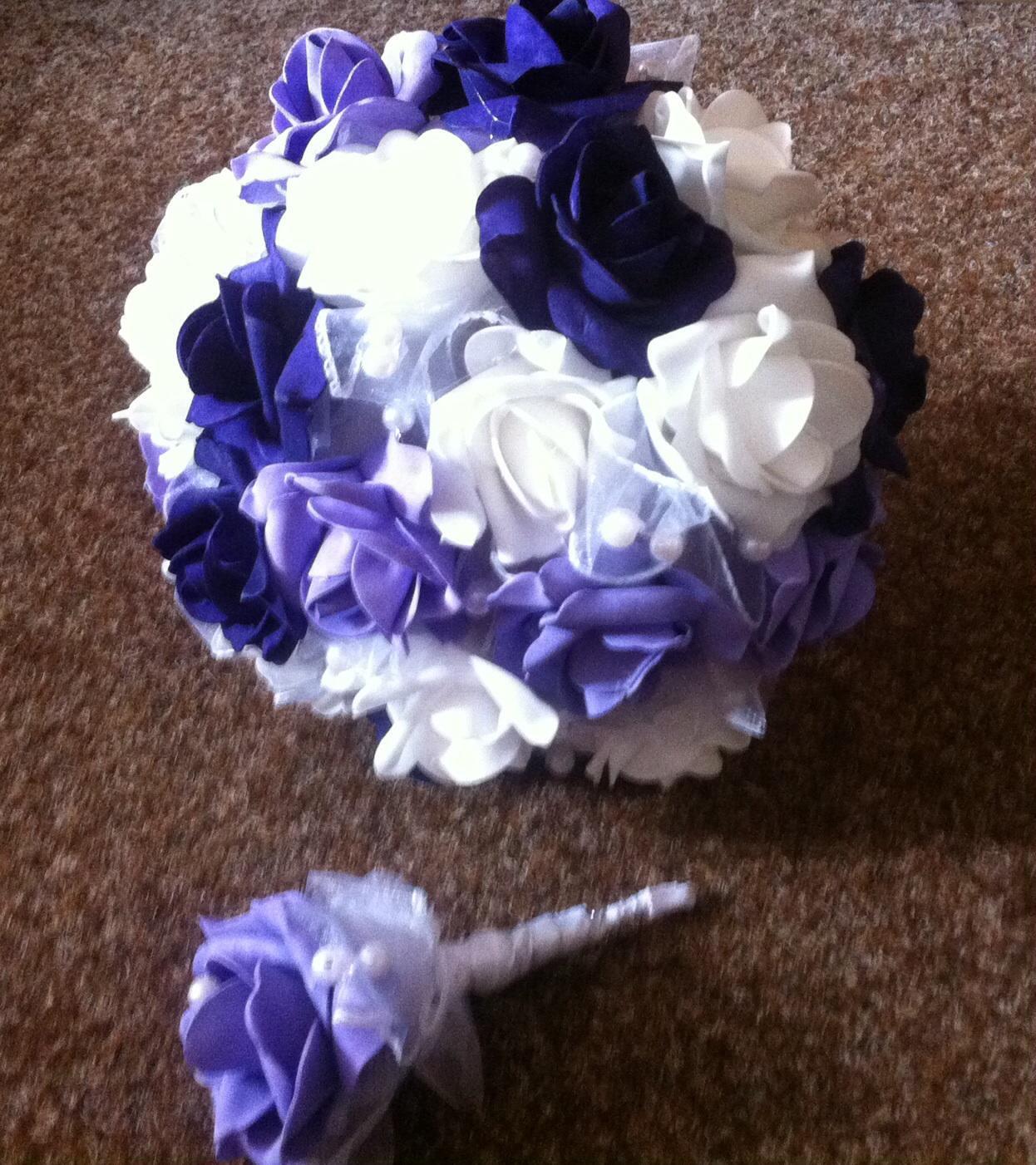 Netradiční svatební kytice - pěnové růžičky + polštářky pod prstýnky, košíčky - Obrázek č. 93