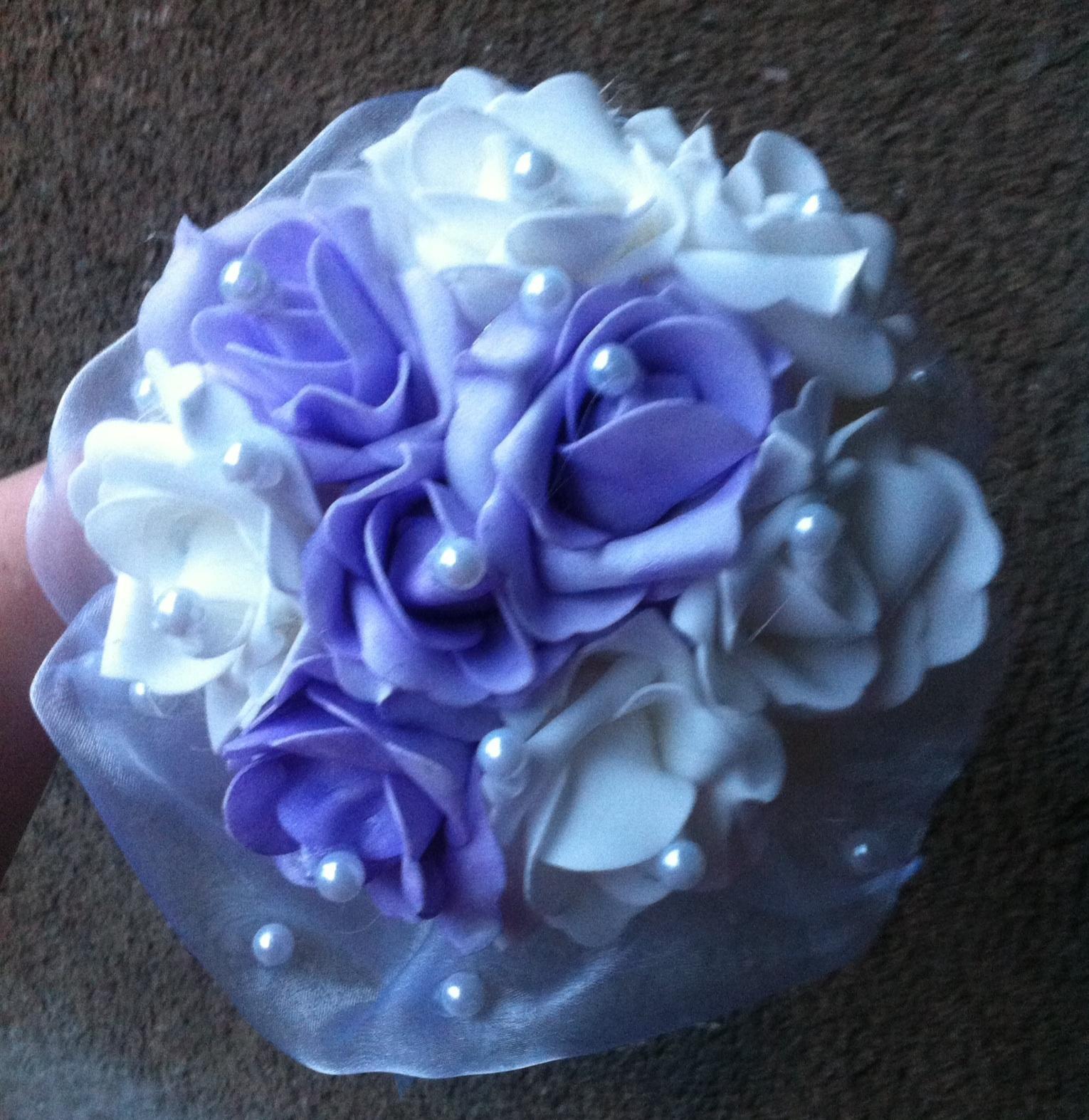 Netradiční svatební kytice - pěnové růžičky + polštářky pod prstýnky, košíčky - Obrázek č. 98