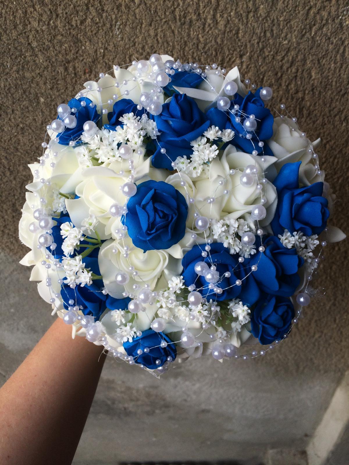 Netradiční svatební kytice - pěnové růžičky + polštářky pod prstýnky, košíčky - Obrázek č. 156