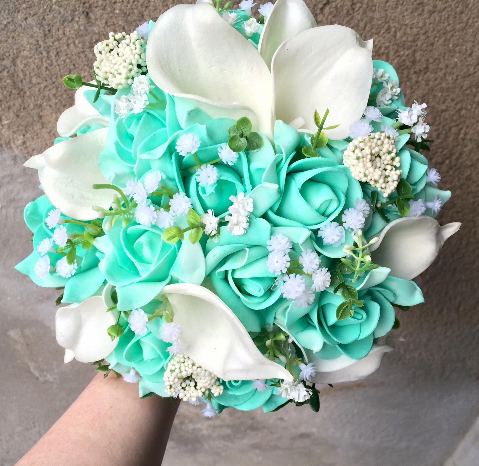 Svatební kytice z umělých květin - Obrázek č. 8