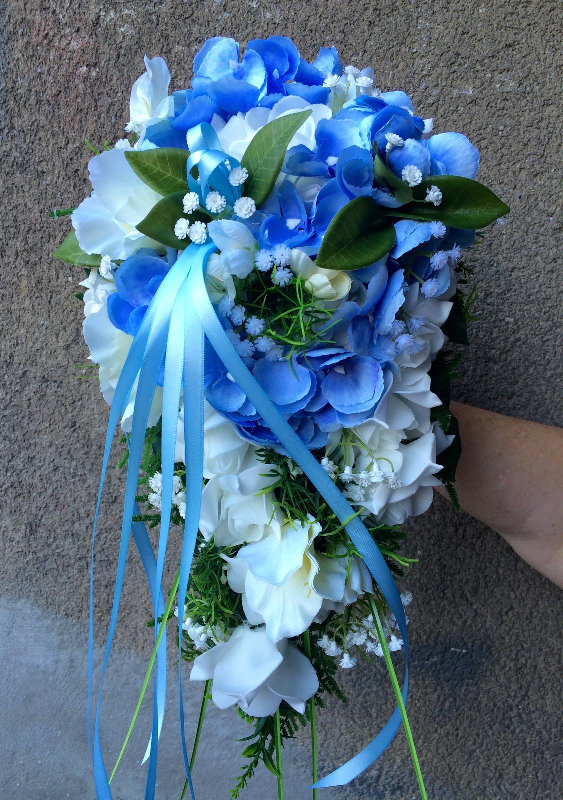 Svatební kytice z umělých květin - Obrázek č. 13