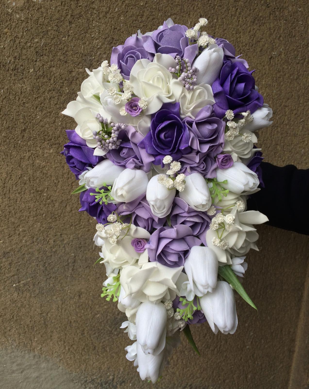 Svatební kytice z umělých květin - Obrázek č. 19