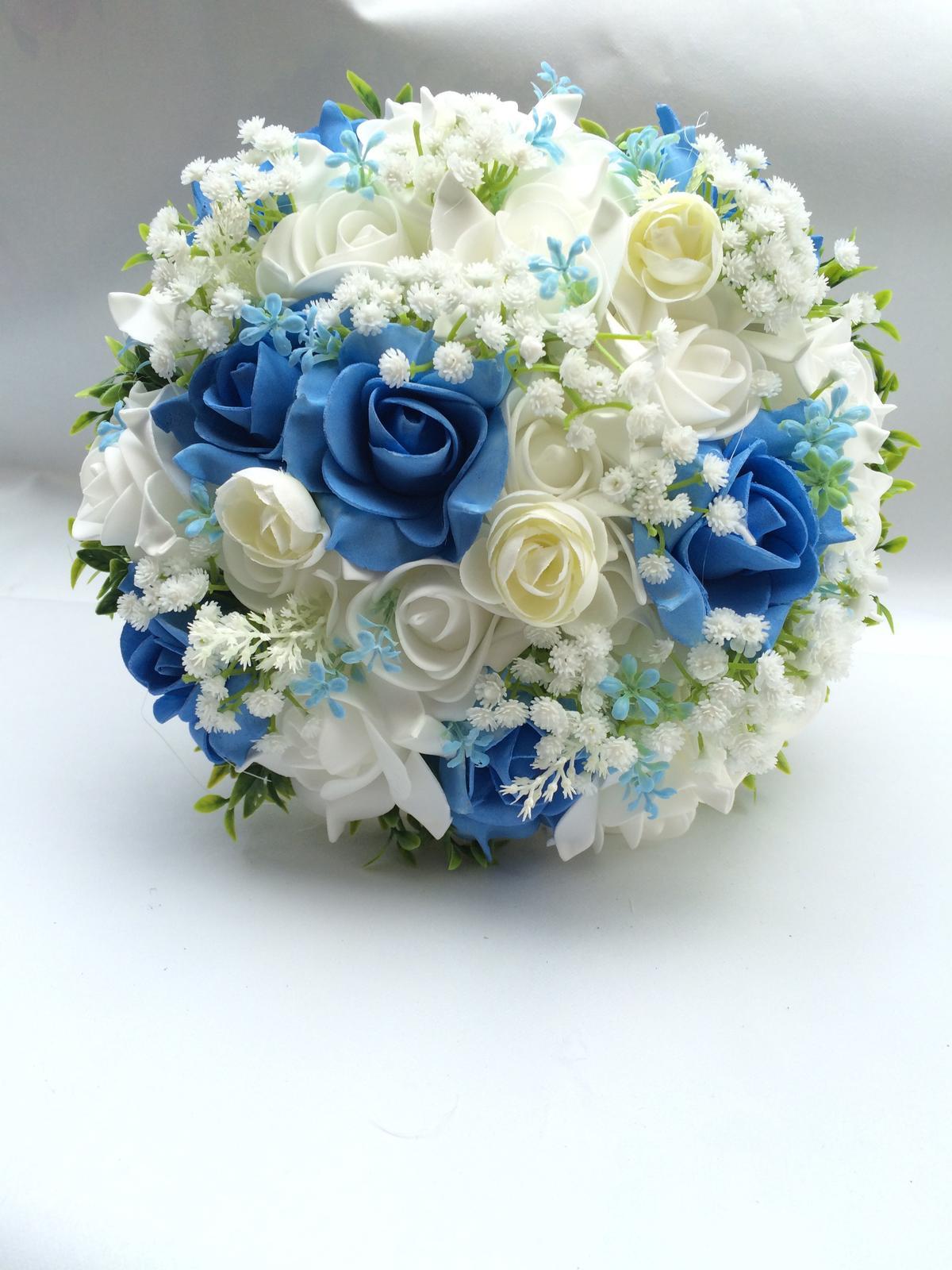 Svatební kytice z umělých květin - Obrázek č. 28