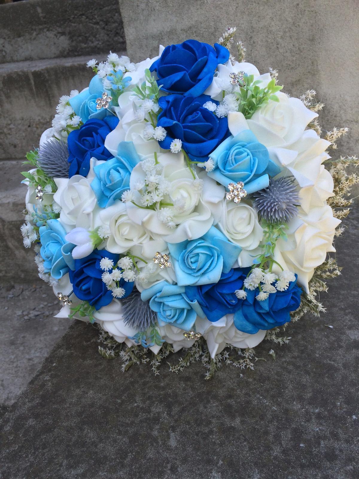 Svatební kytice z umělých květin - Obrázek č. 30
