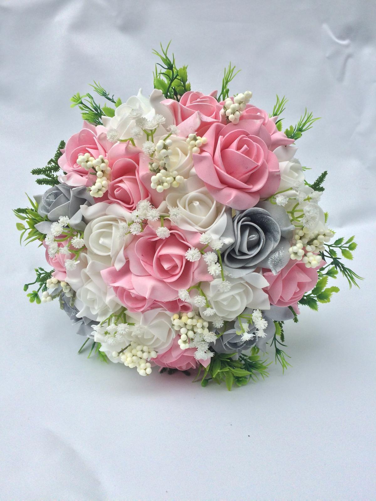 Svatební kytice z umělých květin - Obrázek č. 33