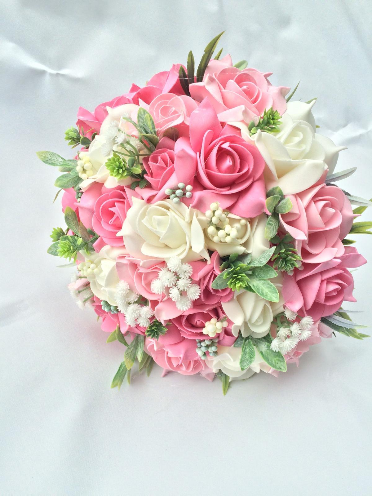 Svatební kytice z umělých květin - Obrázek č. 34