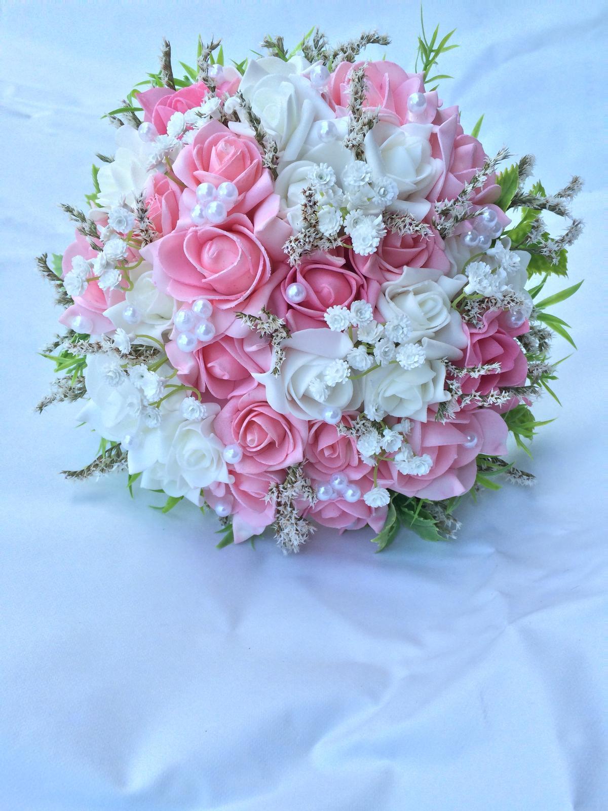 Svatební kytice z umělých květin - Obrázek č. 35