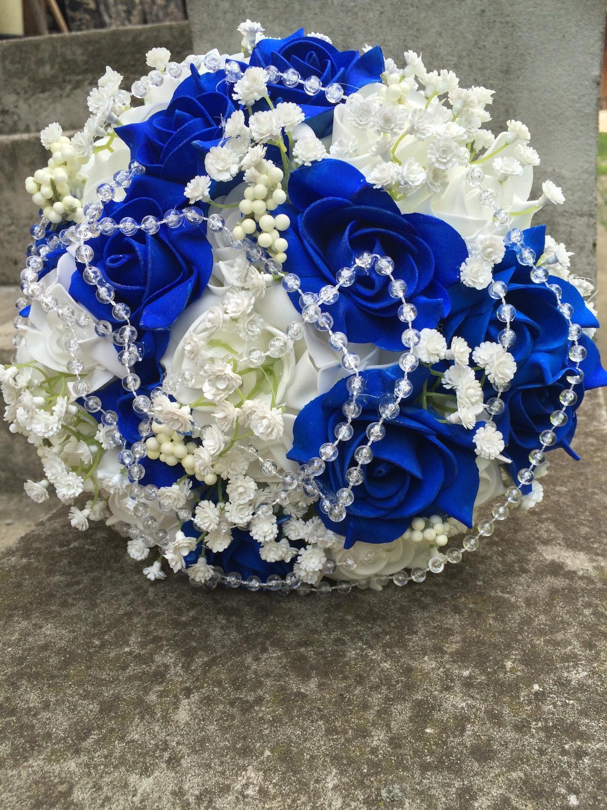 Svatební kytice z umělých květin - Obrázek č. 36
