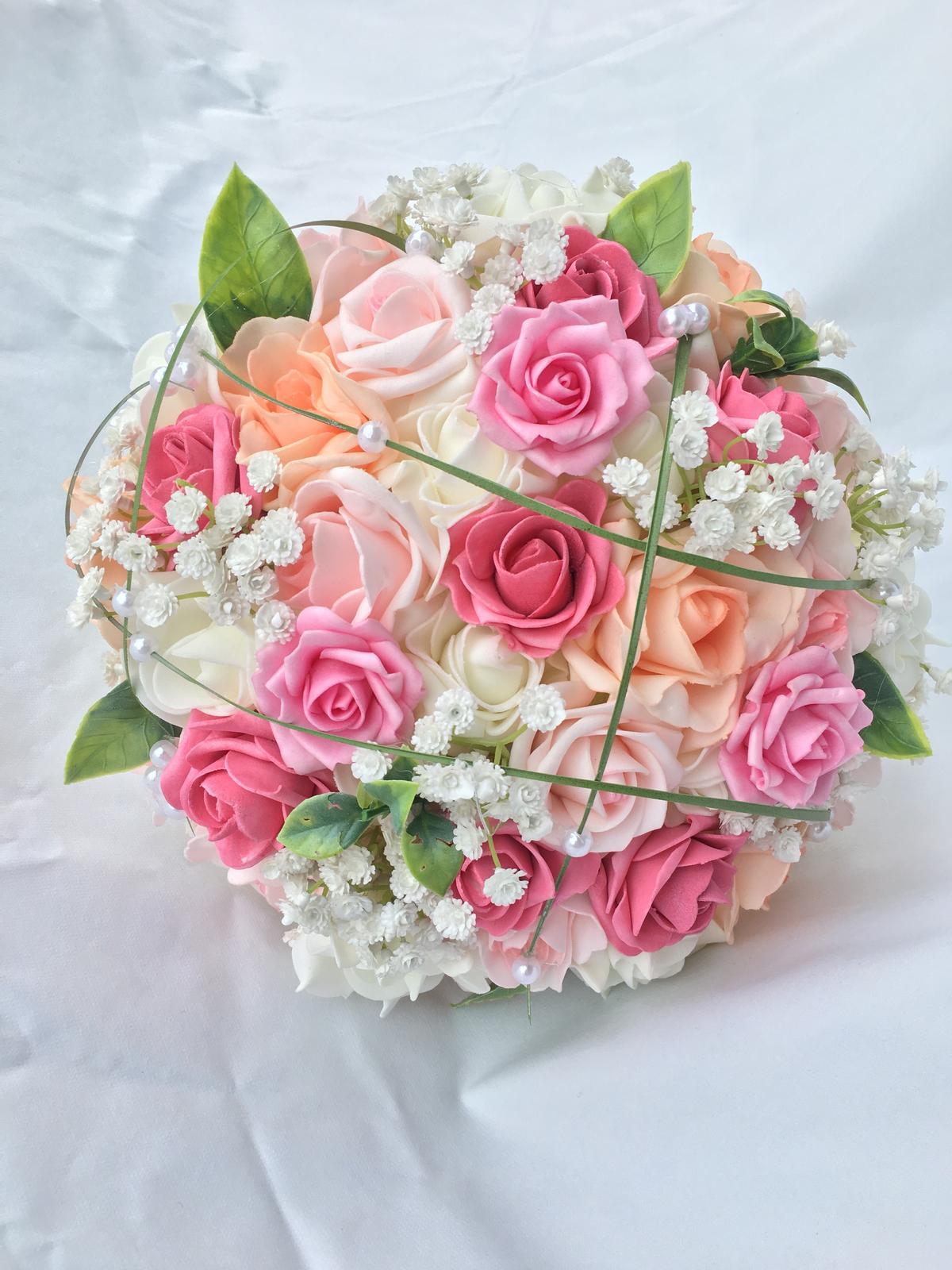 Svatební kytice z umělých květin - Obrázek č. 42