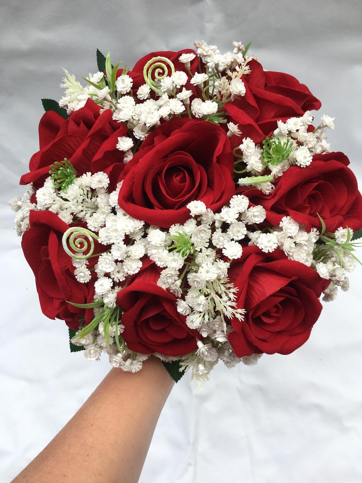 Svatební kytice z umělých květin - Obrázek č. 43