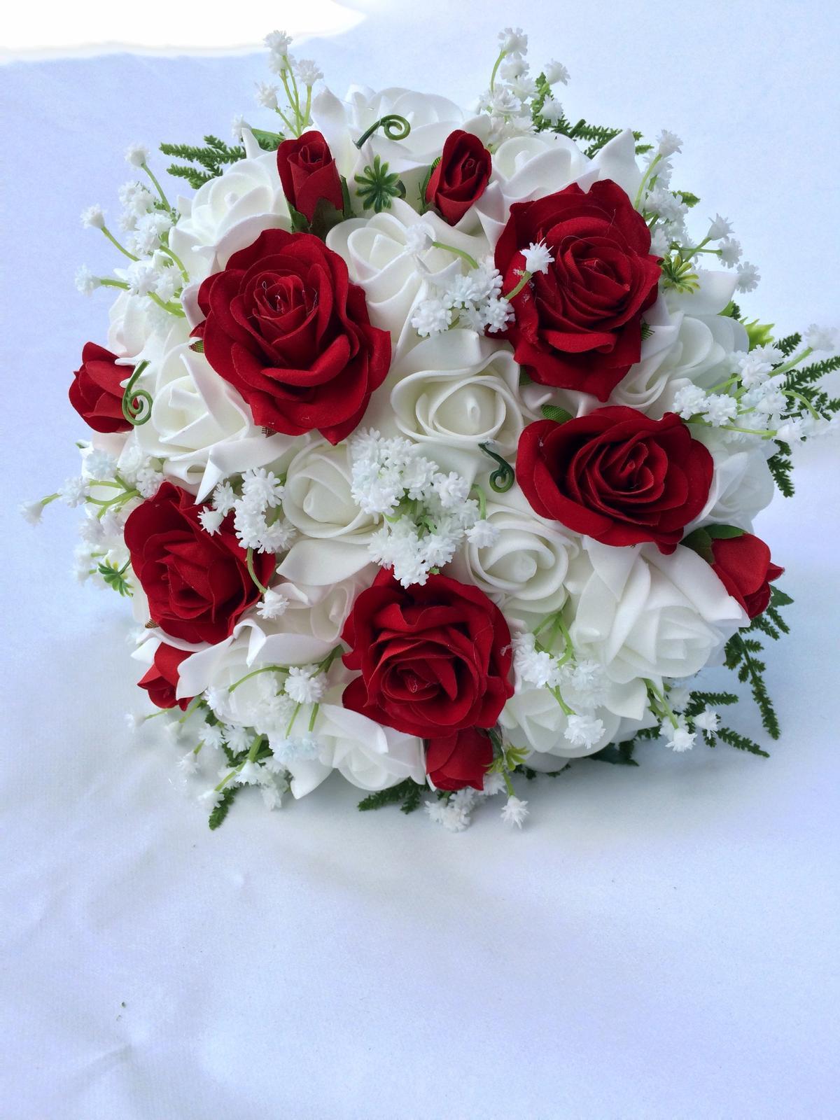 Svatební kytice z umělých květin - Obrázek č. 44