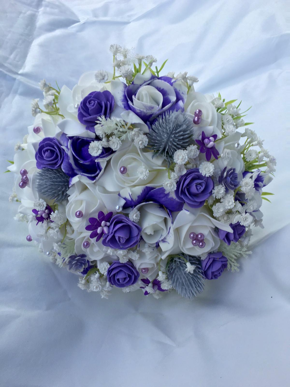 Svatební kytice z umělých květin - Obrázek č. 46