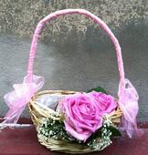 Košíček s živým květem,