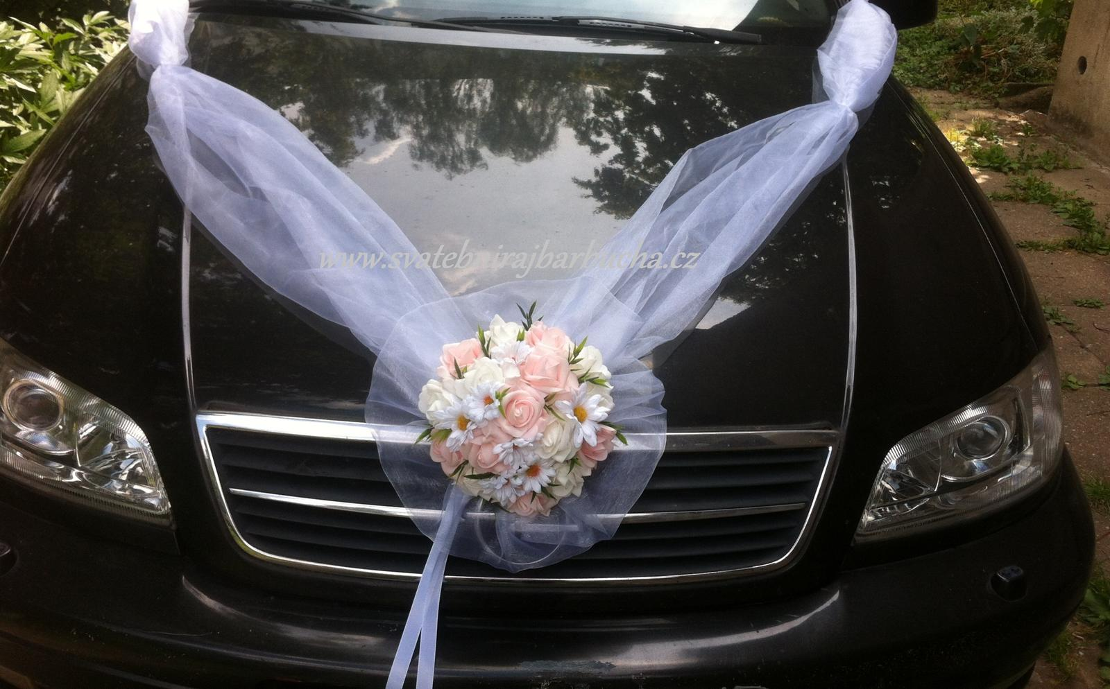 Svatební dekorace na auto-set - Obrázek č. 1