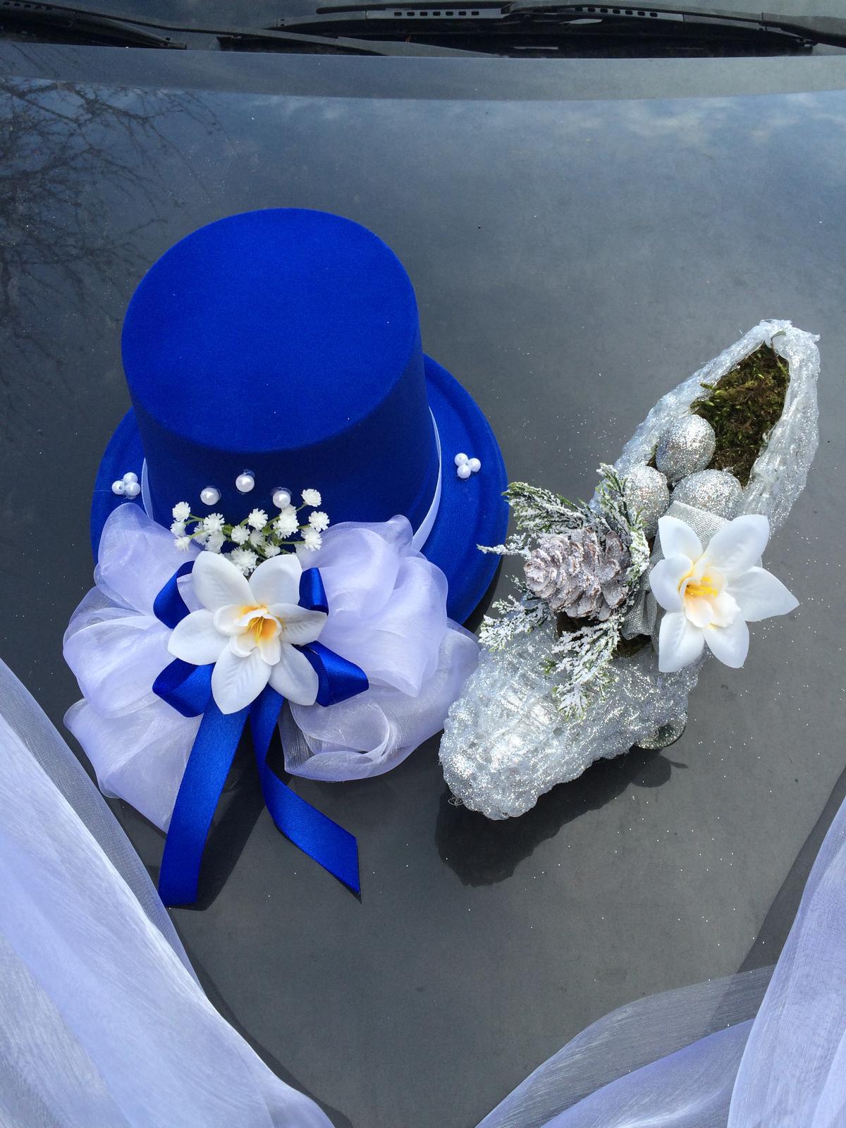 Svatební dekorace na auto-set- popelčin střevíc - Obrázek č. 1