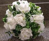 Svatební kytice+ korsáž - bobulajda,