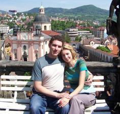 Tak to jsem já s Maruškou v Děčíně