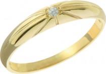 Zásnubní prsten (ale v bílém zlatě)