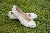 Svadobné topánky s nizučkým opätkom, 40