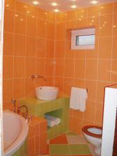 Oranžová kúpelňa - krásna