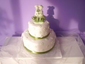 Náš dort - bohužel bez figurek - nevím kde sehnat