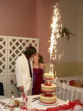Ohnostroj na výbornej svadobnej toretke