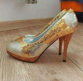 Luxusné zlaté lodičky, 39