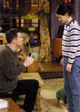 ako Chandler žiadal Moniku o ruku - 1. krát