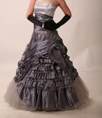 Svatební šaty vel.36-38, stříbrno-šedé, 38