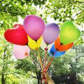 balóny v tvare srdca ,