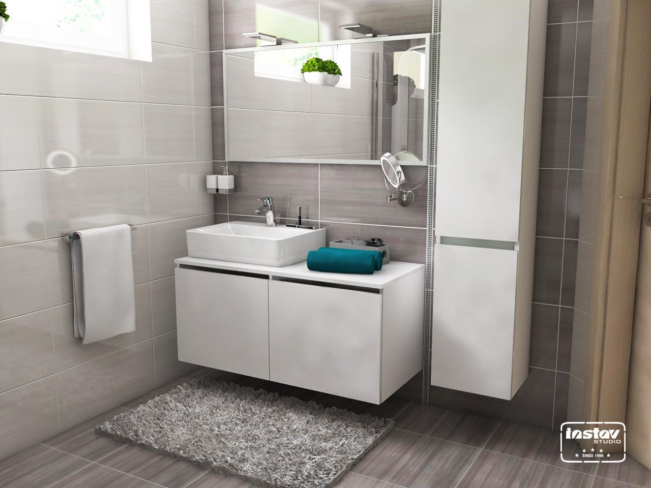 Vizualizácie kúpeľní - Vizualizácia kúpeľne - Ashen