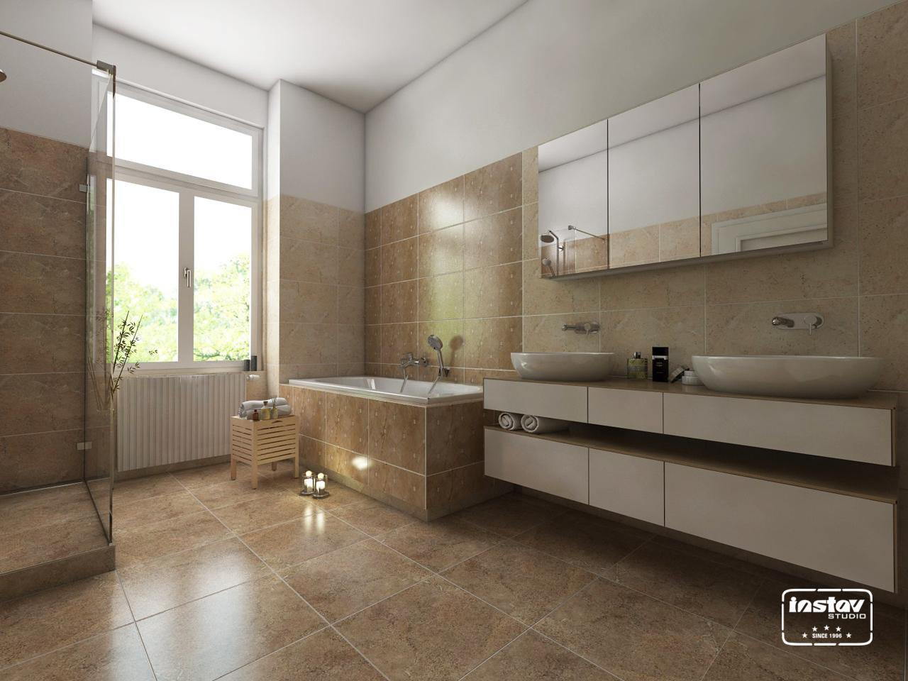 Vizualizácie kúpeľní - Vizualizácia kúpeľne - Vitra