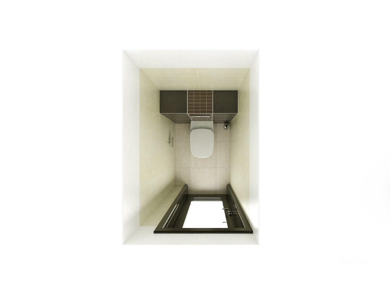 Vizualizácie kúpeľní - Vizualizácia WC - Calle