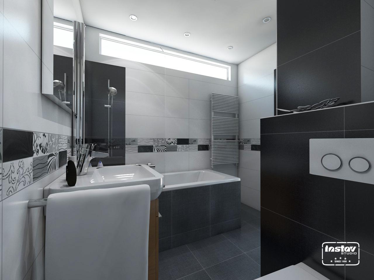 Vizualizácie kúpeľní - Vizualizácia panelákovej kúpeľne.