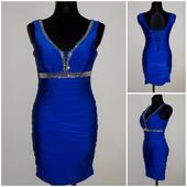 Spoločenské šaty modré, 36