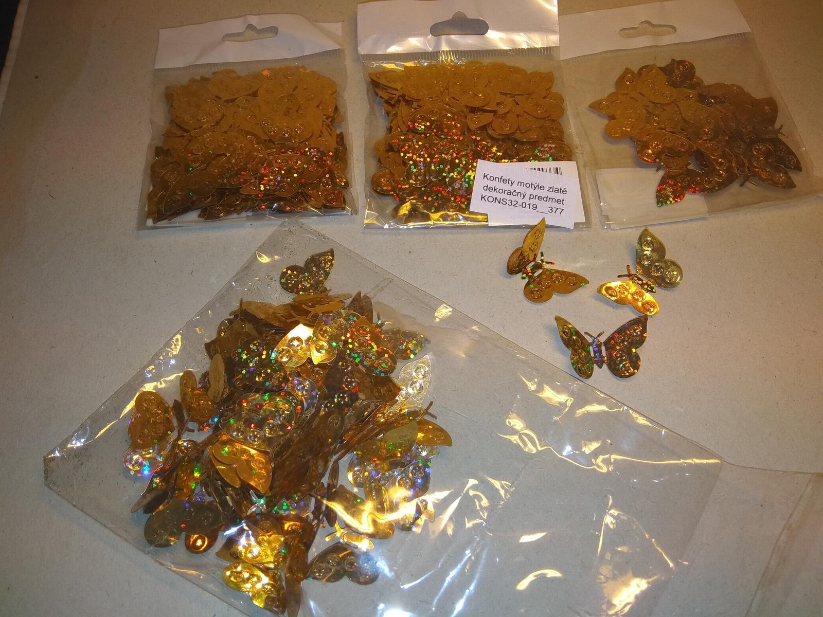 Konfety motýle zlaté - Obrázok č. 1