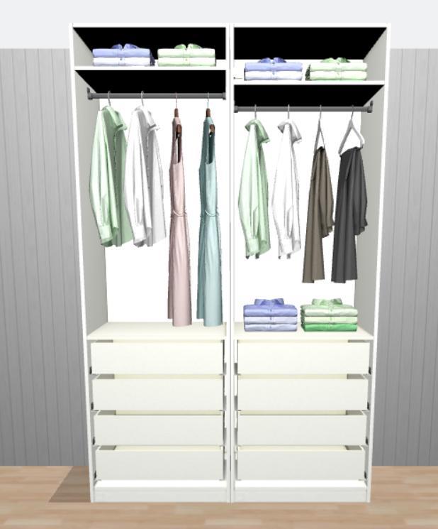 Ložnice - Stávajíci polovina skříně v současné ložnici, pak bude sloužit nám oběma na oblečení