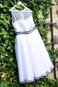 Svatební šaty krátké tylové, 40