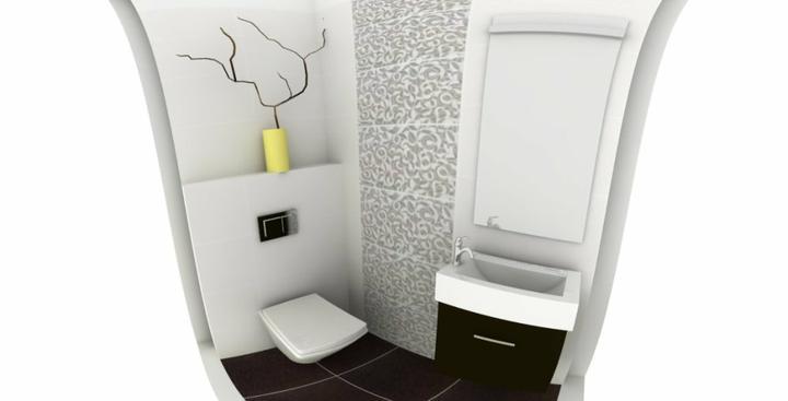 Hosťovské WC - vizualizácia - Obrázok č. 1