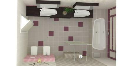 Ešte pôjde stenový radiator medzi sprchovy a bidet...