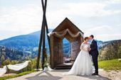 Svatební šaty s vlečkou 44-46, ivory, krajka,rukáv, 44