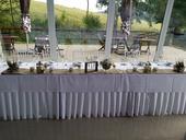 Jutová svadobná výzdoba,