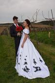 Originální svatební šaty 44 - 48, 46