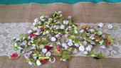 Ozdoby na svatební stůl - mini růžičky,