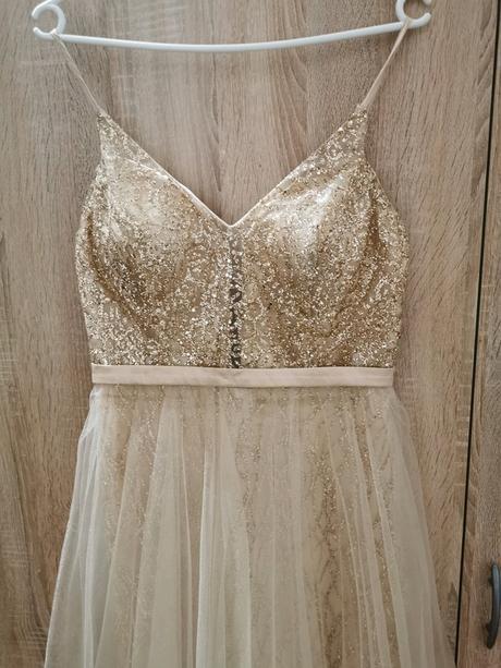 Zlaté třpytivé šaty pro vílu NOVÉ - Obrázek č. 2