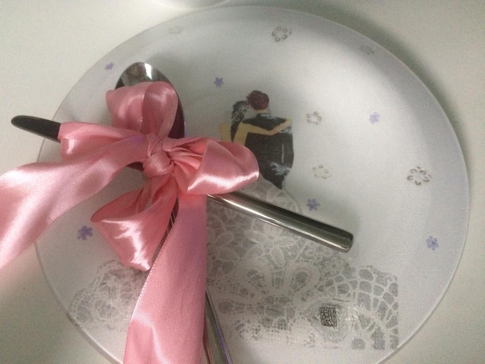 Svadobný tanier na polievku - mladomanželia - Obrázok č. 2