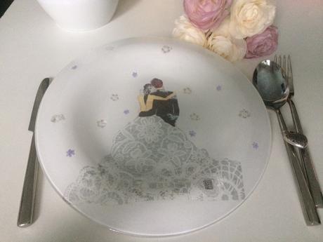 Svadobný tanier na polievku - mladomanželia - Obrázok č. 1