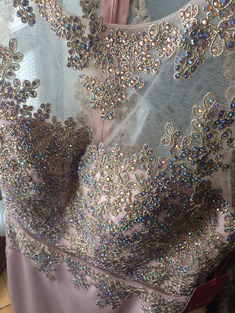 Popolnočné šaty champagne - Obrázok č. 1
