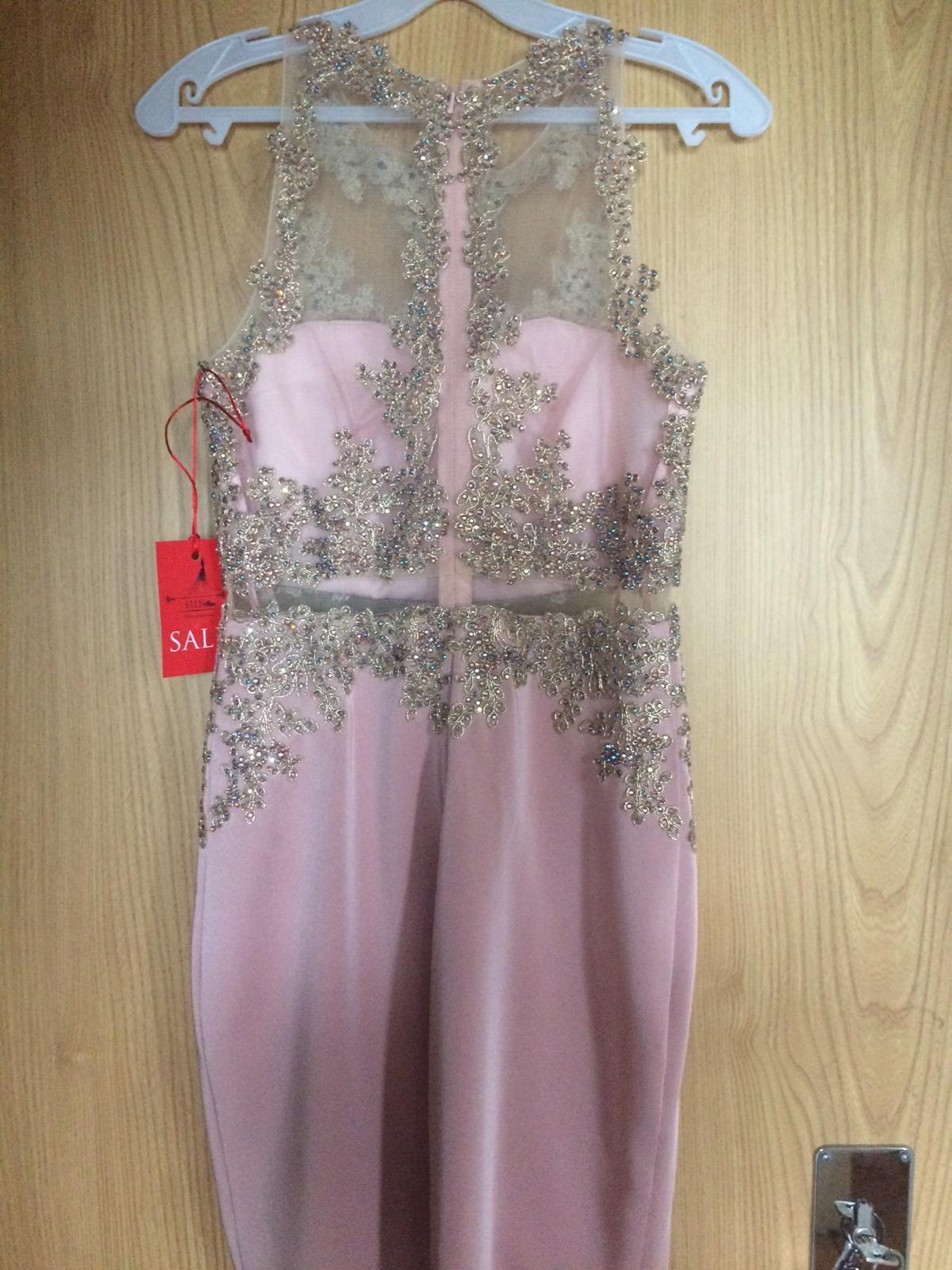 Popolnočné šaty champagne - Obrázok č. 2